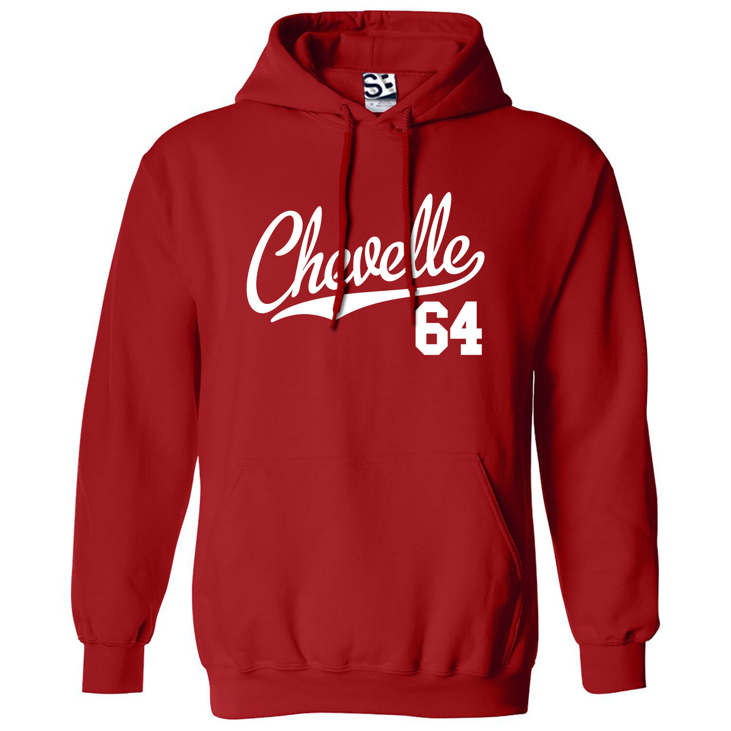 Chevelle 64 Script & Tail HOODIE - Hooded 1964 Muscle Car Sweatshirt All Farbes