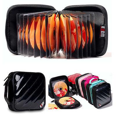 CD DVD Blue-ray Bag Case Holder Storage 32 Discs Portable Black BUBM