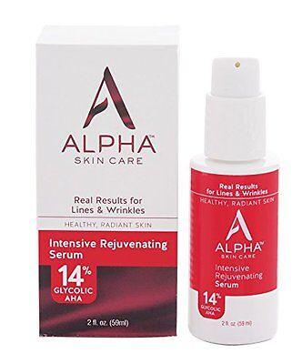 Alpha Skin Care Intensive Rejuvenating Serum with 14% glycolic AHA, 2 Fluid