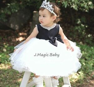 Flower-Girl-Tulle-Tutu-Rhinestone-Dress-Princess-Birthday-Party-Wedding-Gift