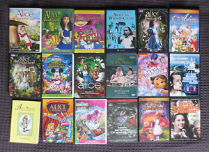 Alice in Wonderland DVD Instant Collection - 17 Movies! Animation + Live Action