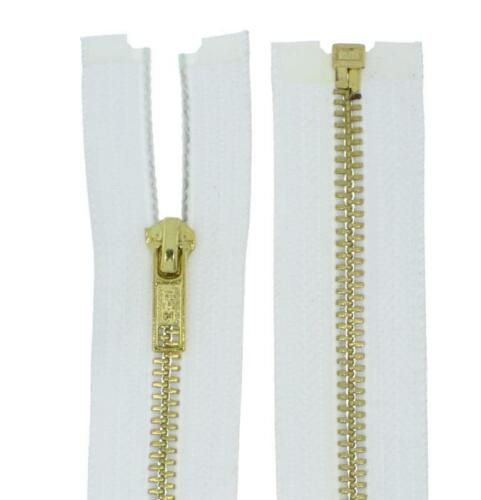 Reißverschluss ab 74cm MG Metall Gold Messing Metallreißverschlüsse teilbar 5mm