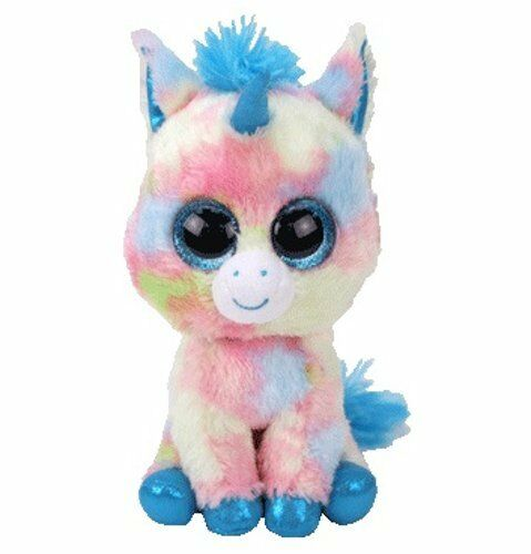 TY BEANIE BOOS LARGE Plush 16  41cm Soft Toy BLITZ UNICORN White blueE Boo