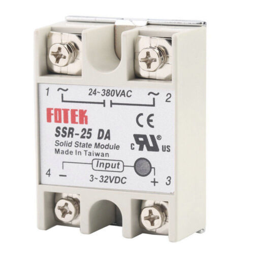 SSR-25DA SSR-40DA SSR-60DA 25A//40A//60A 250V Solid Relay Module Heat Sink ASS