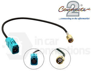 In-car-radio-aerial-adapter-cable-lead-male-SMA-to-female-Fakra-CT27AA116-DAB