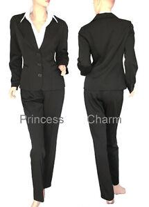 1719dfd344a1c Womens Black Business Suit Jacket Pants AU Plus Size 22 20 18 16 ...