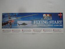 11/1989 PUB LINK MILES CMS AGUSTA A129 MANGUSTA HELICOPTER ARC FLECHE ARROW AD