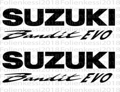 21 Couleurs-s0006 2x SUZUKI BANDIT Evo Autocollant Set réservoir Bandit Racing