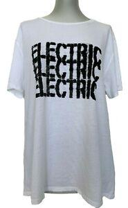 6397 'ELECTRIC' WHITE COTTON T-SHIRT, M, $265
