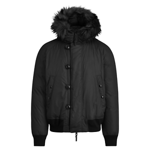 Cappotti Nero Ralph Lauren Piumino con pelliccia ecologica