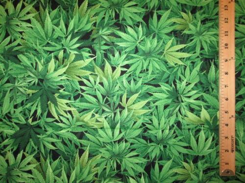 MARIJUANA POT WEED 420 CANNIBUS PLANT COTTON FABRIC FQ
