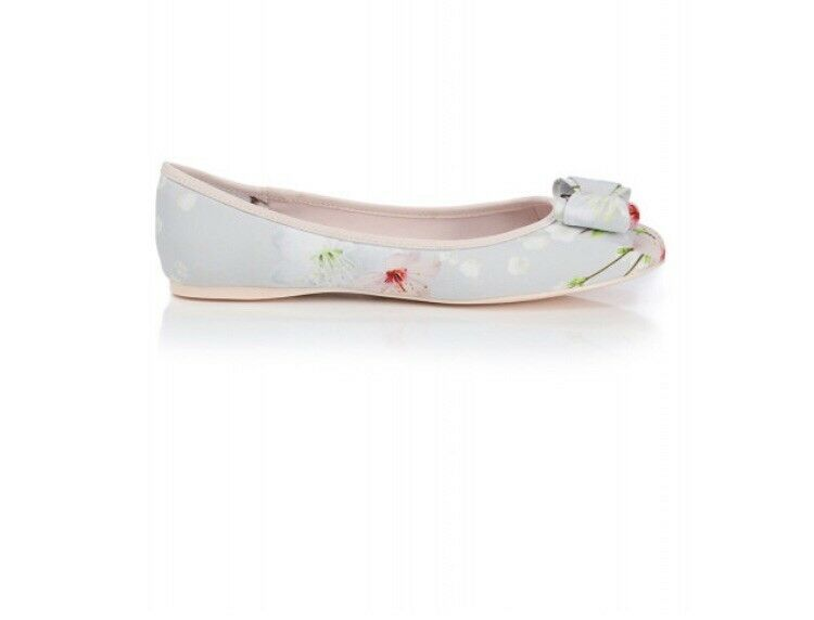 TED BAKER ORIENTAL BLOSSOM IMMEP BOW BALLERINA PUMPS FLAT SHOES 6 BNIB