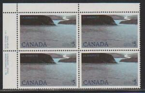 1986-Canada-SC-1084-UL-National-Park-Plate-No-1-CBN-Plate-Block-M-NH-Lot-1826