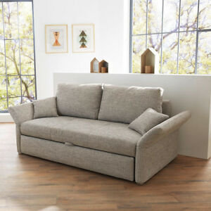 funktionssofa luca sofa f r dauerschl fer in grau mit bettfunktion 140 cm 4037621042146 ebay. Black Bedroom Furniture Sets. Home Design Ideas