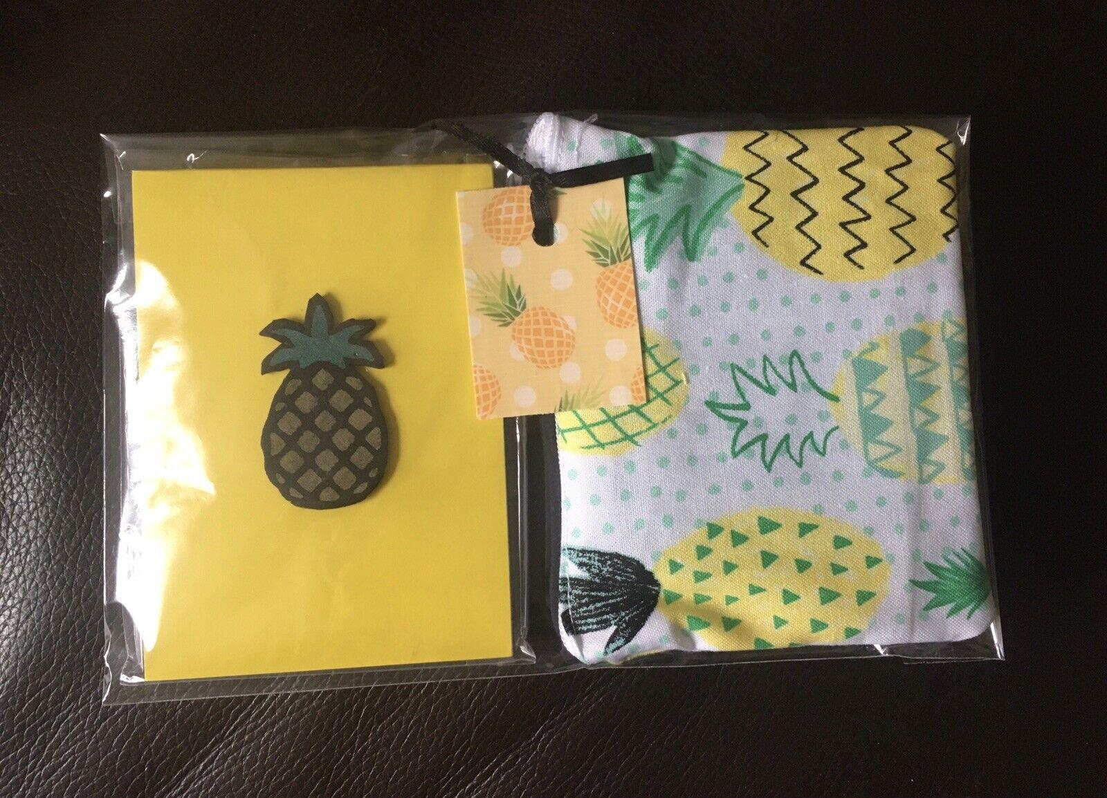 Retro🍍pineapple Cute purse +notebook funky Black & Yellow 2 Piece gift set
