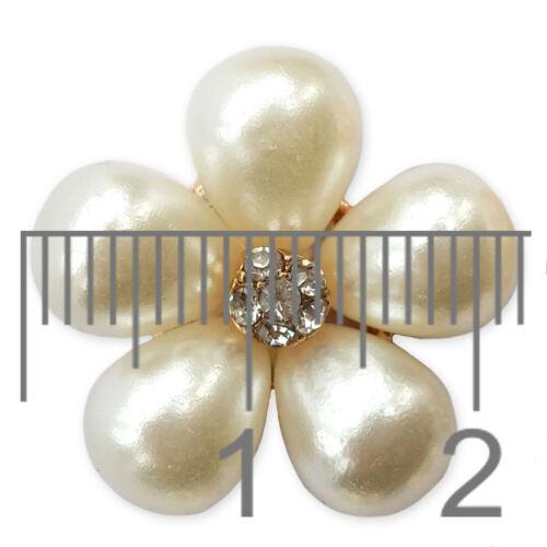 Luxury Diamante Pearl Embellishment Scrapbooking Cardmaking Wedding Card Craft D