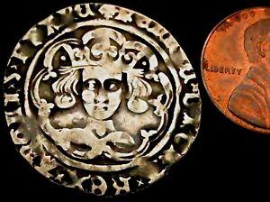 W001: Henry VI Hammered Silver Groat Leaf-Pellet issue (1445-55), London, S.1917