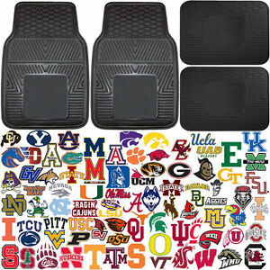Official-Licensed-Unviersal-Car-Truck-Auto-NCAA-Front-Rear-Rubber-Floor-Mats