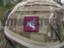 British Army VCRO backed Pegasus Airborne Helmet Patch Maroon Blue 16AA 4x4cm
