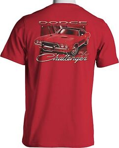 mopar dodge challenger rt t shirt hemi musclecar mens red