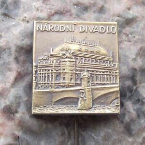 Antique-Historic-Czech-National-Theater-Prague-Theatre-Souvenier-Pin-Badge