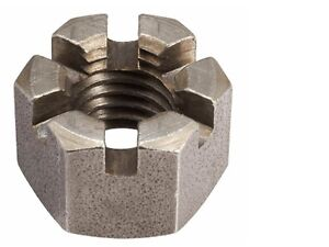 UNF Bright Zinc Plated & Self Colour Steel Hexagon Castle Wall Nuts
