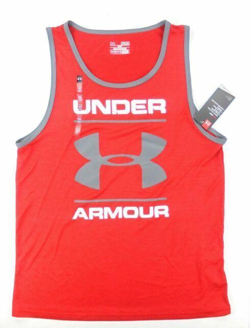 NWT Under Armour Men's UA Tech Graphic Tank Sleeveless HeatGear Top Shirt all sz