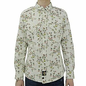 Vivienne-westwood-Anglomania-for-Lee-camicia-militare-floral-shirt-military