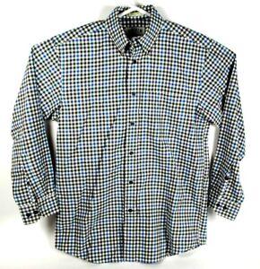 Orvis-Medium-Mens-Plaid-Multi-color-Button-Up-Shirt-Long-Sleeve-Dress-Shirt