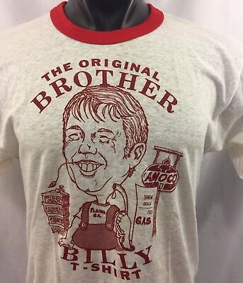 Billy Carter Maglietta Originale Brother Vintage Anni 80 Champ Maglia T-shirt
