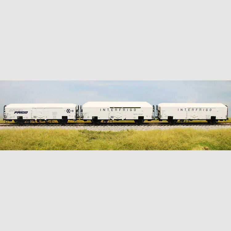 Set  3 carri isotermici INTERFRIGO, di cui uno a sagoma inglese - Art. Acme 4507