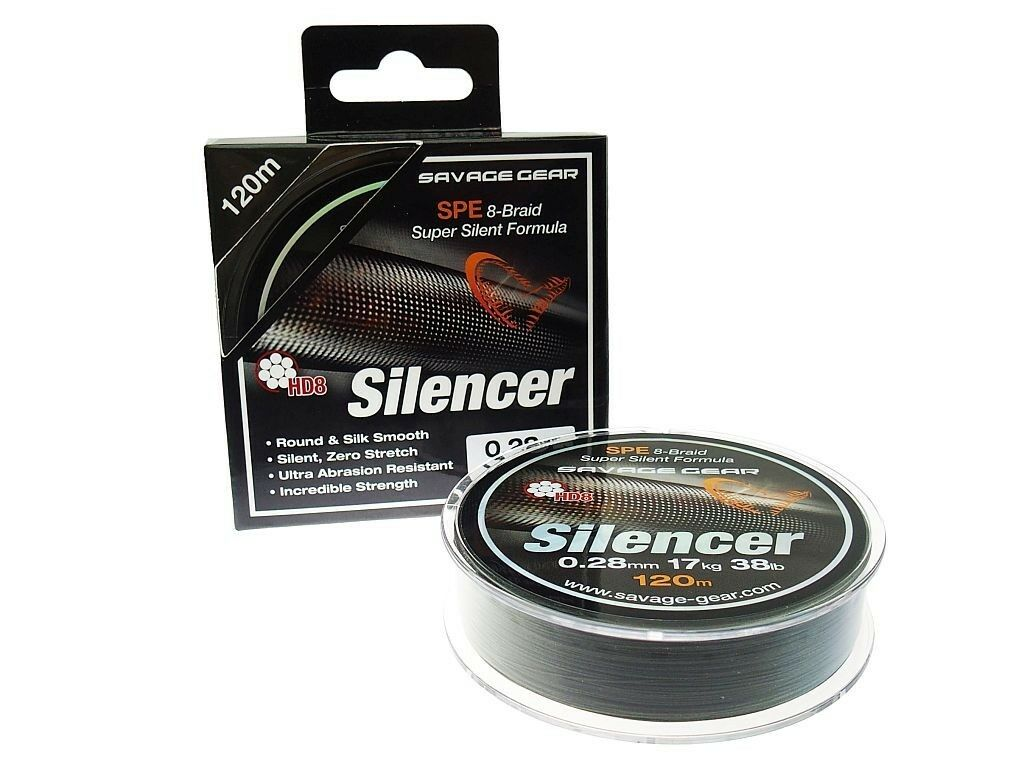 Savage Gear 0,12-0,23mm hd8 SILENCER Braid 300m 0,12-0,23mm Gear intrecciato LENZA 5a59d9