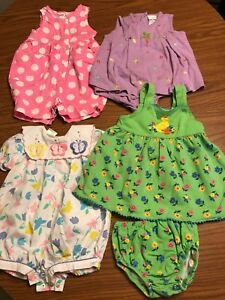 best place big sale online shop Details about Lot Of Four Baby Girl Outfits Size 12 Month