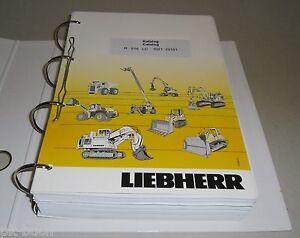 Spare Parts Catalog List Liebherr Excavator R 916 LC Stand 06/2010