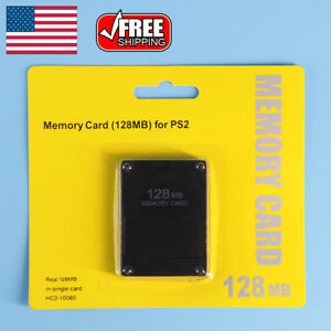 128MB-Megabyte-Memory-Card-For-Sony-PS2-PlayStation-2-Slim-Game-Data-Console-US