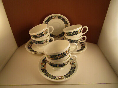 Vintage Bone China W4217 Six Wedgwood Honeysuckle Rust Dinner Plates Gift Made in England