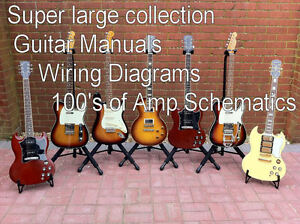 Bass Guitar Wiring Diagram Schematics : Super large mega set of guitar manuals and bass amp technical