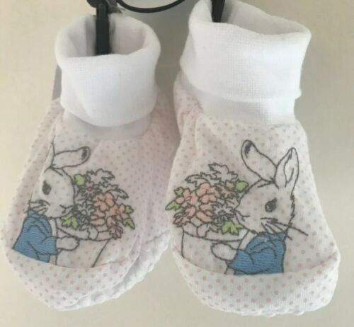 Peter Rabbit White And Pink 0-3 Months Booties