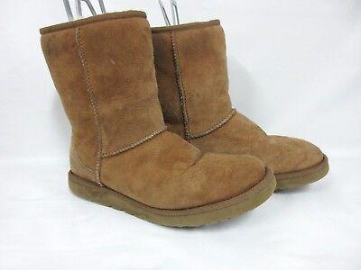 UGG Australia Womens Patten Boot Chestnut Suede Size 8