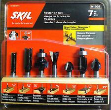 "Skil 91007 7 Piece General Purpose Router Bit Set - 1/4"" Shank - NEW"