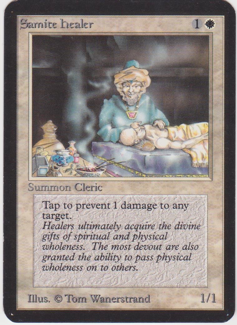 Samite Healer Healer Healer - Alpha (Lot C) 30455b