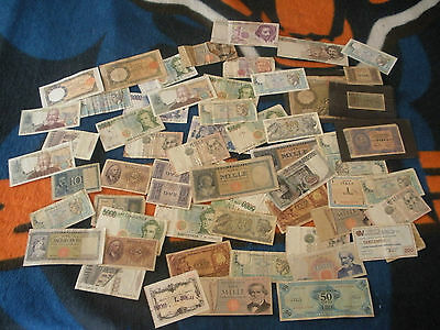 Italy - 140 Old Paper Notes - Large Lot
