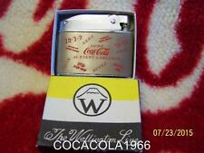OLD Vintage JAPAN BALBOA 1960 AROUND THE WORLD Coca Cola Lighter Coke NIB Bottle