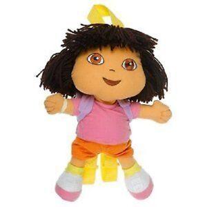 """Dora Explorer Plush 14"""" Backpack - Brand New - Licensed Product for Kids"""
