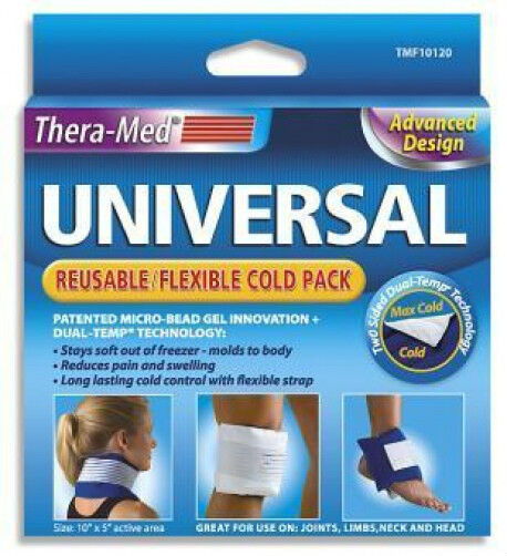 Theramed Universal Cold Pack Ice Gel Arthritis Sore Muscles Pain Swelling Leg