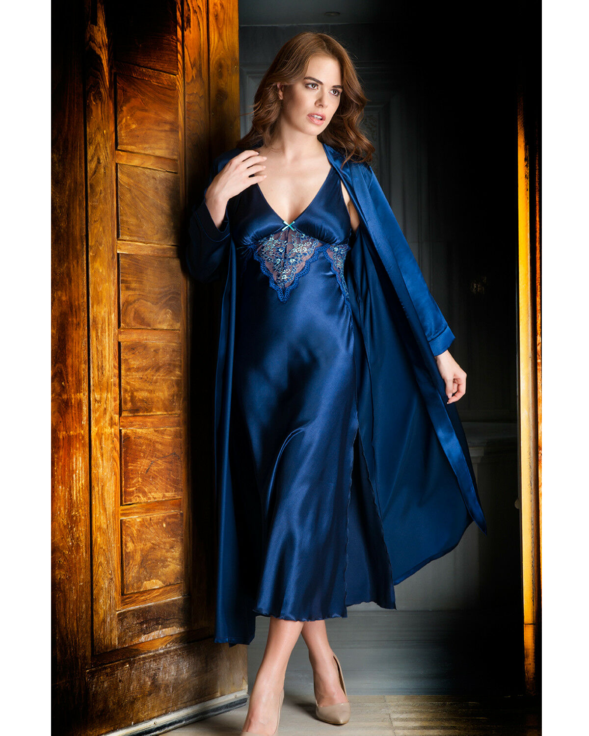 Women Navy bluee Nightdress and Gown
