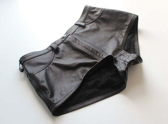 Pantaloncini di pelle in stile classico-Hot Pants Nero Taglia EU EU EU 40 US 8-10 e46311