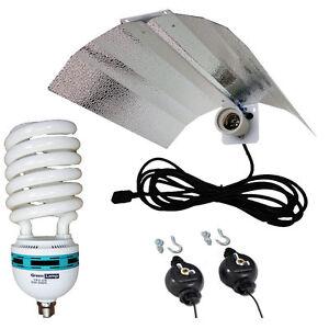 CFL Wing Reflector + 125w 2700k Lamp Hydroponics Light grow tent E27 not E40/HPS