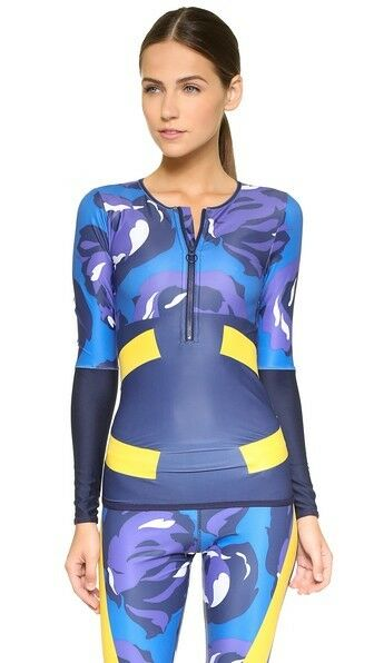 Adidas by Stella McCartney Women's Ink Navy bluee Running Techfit Stretchy Top XS