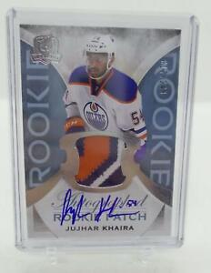 2015-16-The-Cup-Rookie-Patch-Auto-3-Color-Jujhar-Khaira-017-249-Oilers